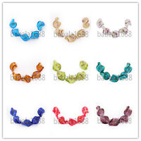 20mm Charms Flowers Twist Helix Lampwrok Glass Loose Spacer Beads Free Shipping