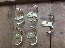 Ensemble 5 Brass Plaqué Double Crochets Peignoir Manteau Chambre Salle de Bain