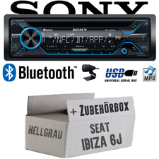 Sony Autoradio für Seat Ibiza 6J Hellgrau Bluetooth CD MP3 USB PKW Einbauset KFZ