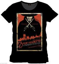V For Vendetta  Freedom Forever   Black   T-Shirt (Large)