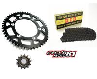 Kit Chaine DID + Couronne Noir + pignon 13x51 Suzuki RMZ 450 2005 à 2017