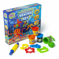 Glow In The Dark Sealife Play Dough Set & Moulds Kids Activity Toy Kit R03-0192