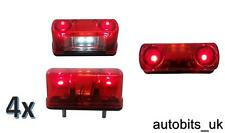 4 PZ 4 LED Posteriore Tail license number plate light lampada 12V AUTO CAMION RIMORCHIO FURGONE