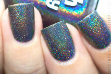 Polish Me Silly Black Widow Holographic Glitter Nail Polish Indie Polish