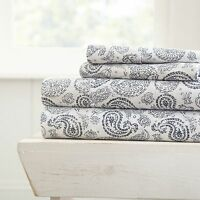 Hotel Collection - Ultra Soft 4 Piece Coarse Paisley Bed Sheet Set