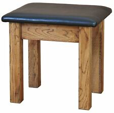 Oxbury solid oak furniture dressing table stool