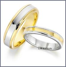 10K WHITE & YELLOW GOLD HIS & HERS WEDDING BANDS, MATCHING WEDDING RINGS SET