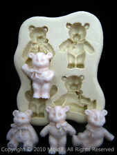 Sugarcraft Molds Silicone Moulds Cupcake, Clay,Chocolate,soap -Cute Bears