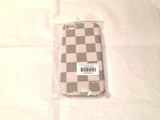 NEW Luxury Designer Leather Checker Grid Pattern Case Cover For iPhone 5 & 5S