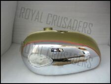 BSA A65 THUNDERBOLT,LIGHTNING, ROYAL STAR GOLDEN PAINTED CHROME FUEL TANK (CODE5