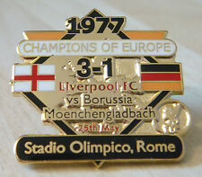 LIVERPOOL Victory Pins 1977 EUROPEAN CUP WINNERS Badge Maker Danbury Mint