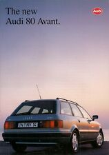 Audi 80 Avant 1992-93 Export Markets Launch 20pp Sales Brochure In English