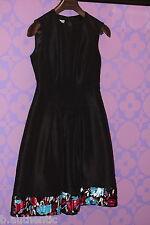 Oscar de la Renta Fall 08 Empire Sheath Sequin Flower Embroidery Dress Sz 6 Med