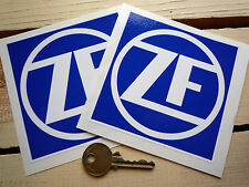 """ZF Gearboxes Racing Car STICKERS 4"""" Pair Sponsors BMW CSL Mercedes F1 Aston Ford"""