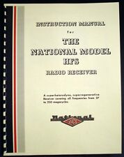 National HFS Radio Receiver Manual