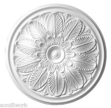 Ceiling Medallion Scallop 23 inch Primed White D549 round canopy dome white big
