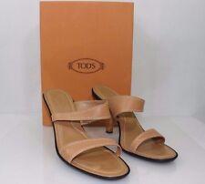 TOD'S Sport Nice Women's Sandals Heels Beige Size 9.5
