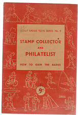 STAMP COLLECTOR & PHILATELIST : SCOUT BADGE TEST SERIES 1947 scouting cz