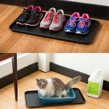 Washable Utility Home Door Plastic Shoe Tray Mat Plants Pet Food Welly Tidy NEW