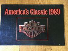 Vintage 1989 HARLEY-DAVIDSON America's Classic CALENDAR Model Motorcycles NICE