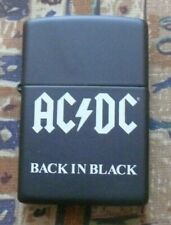 More details for music acdc back in black zippo lighter free p&p free flints