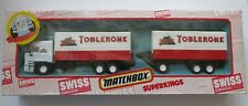 Boxed Matchbox Superkings Swiss Collection Toblerone Tandem Truck SK-122 DAF
