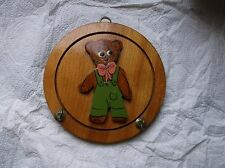 RETRO WOODEN CAT KEY OR POT HOLDER~KEY OR  POTHOLDER 3-D CAT WALL DECOR