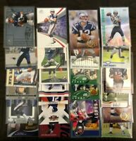 (TOM BRADY) (10 Count) (FOOTBALL CARDS) No Duplicates! ALL DIFFERENT LOT INVEST!