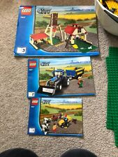 Lego 7637 Farm Buildings, Tractor And Animals Complete With Instructions