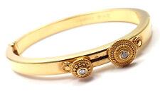 Authentic! Carrera Y Carrera 18k Gold Diamond Spinning Circle Bangle Bracelet