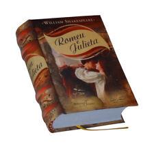 Romeu e Julieta William Shakespeare Portuguese capa dura de livro em miniatura