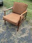 Vintage mid century modern tell city lounge chair walnut original