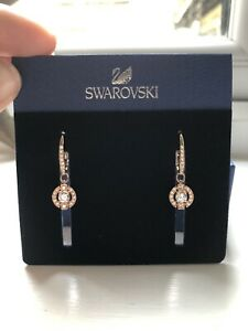 Swarovski Rose Gold Sparkling Dance Earrings Brand New In Box