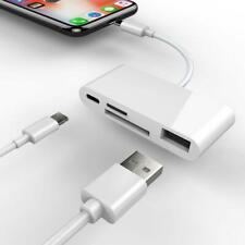 Lightning to Card Reader USB Camera TF Memory Card 8 Pin Female OTG for Camera