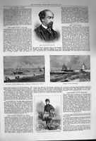 Old Antique Print 1874 Watts Phillips Flowers Hospital Hull Ships Coatham 19th