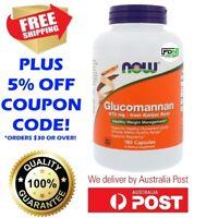 NOW Foods Glucomannan - Konjac Root 575mg 180 Caps - Healthy Diet Feel Fuller