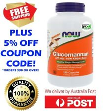 NOW Foods Glucomannan - Konjac Root 575mg 180 Caps - Healthy Diet Feel Fuller