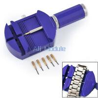 Bracelet Wrist Watch Band Adjuster Repair Tool Set Link Strap Remover + 5 Pins K