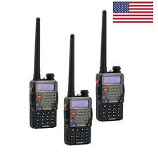 3x Baofeng UV-5R Plus > V2+ DUal V/UHF Handheld HT 128CH VOX FM Two way Radio US
