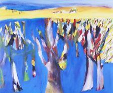 Sidney NOLAN 'Lagoon, Wimmera' reproduction print - MODERN AUSTRALIAN LANDSCAPE