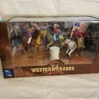 New Ray Western Rodeo Champion Cowboy Plastic Action Figures