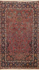 Antique Traditional Vegetable Dye Area Rug Hand-knotted Floral Oriental Wool 5x7