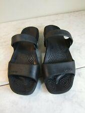 Crocs CLEO Black Comfort 2 Strap Sandals Slides Women's Size 6