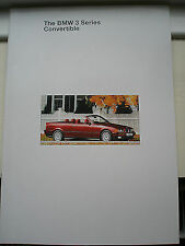 BMW 3 Series Convertible brochure 1994 ed 1