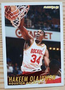 Carte Basketball NBA Fleer 94-95 (U.S) #85 Hakeem Olajuwon Houston Rockets