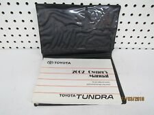 2002 Toyota Tundra Owners Manual Set            FREE SHIPPING