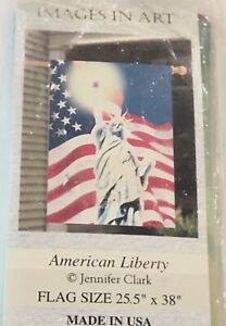 Outdoor Garden Flag America Statue of Liberty Meadow Creek Double-Sided USA NEW