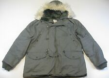 US Military USAF N-3B Extreme Cold Weather Snorkel Parka Coat Hood L Large EUC