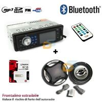 KIT AUTORADIO STEREO BLUETOOTH USB SD AUX + CASSE 300W + PEN DRIVE 8GB+CAVO AUX