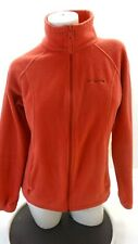 COLUMBIA WOMEN'S BLOOD ORANGE ZIP UP FLEECE JACKET SIZE M